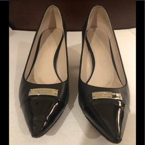 COACH brand black patent leather heels!